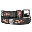 BELT  021-C1 Itali Negro y Antic Fuego