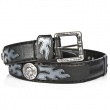 BELT  021-C2 Itali Negro y Antic Acero